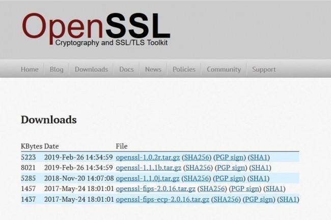 Alerte de vulnérabilité dans OpenSSL 1.0.2x