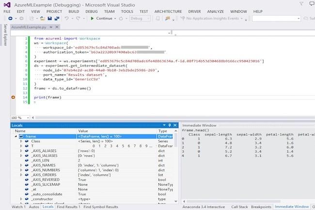 Python intégré au SDK Azure Machine Learning
