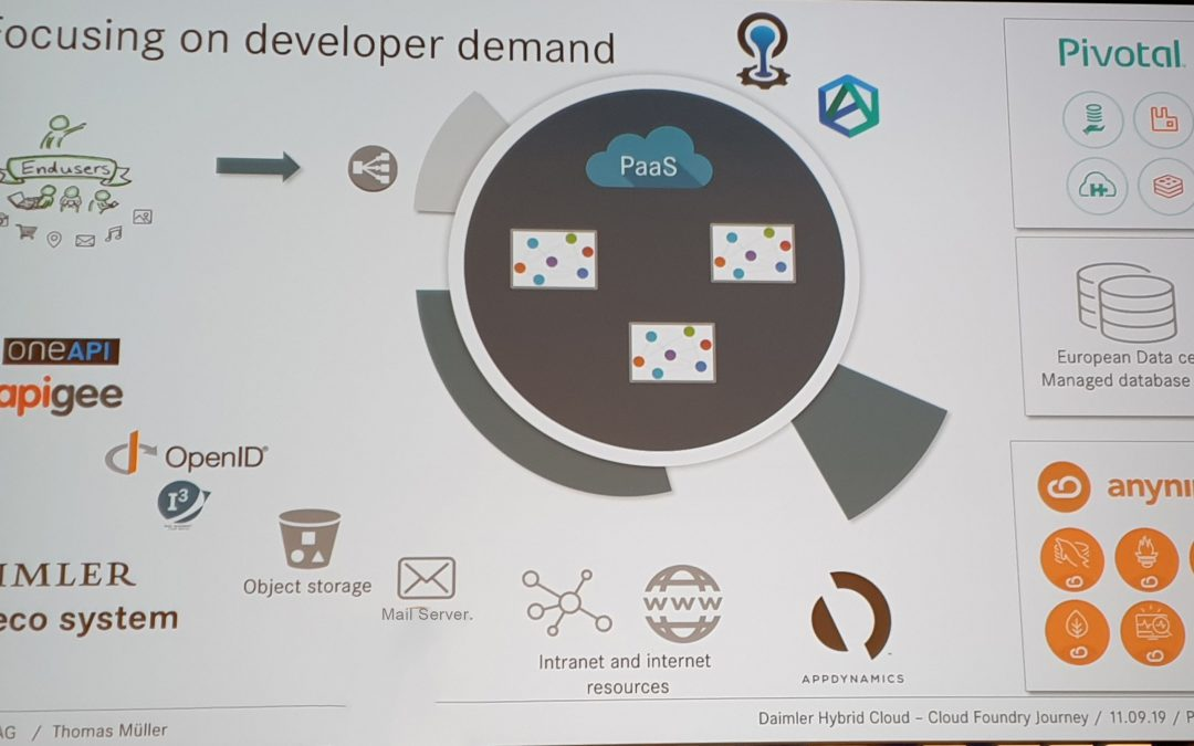 Daimler évolue vers les micro-services avec Cloud Foundry
